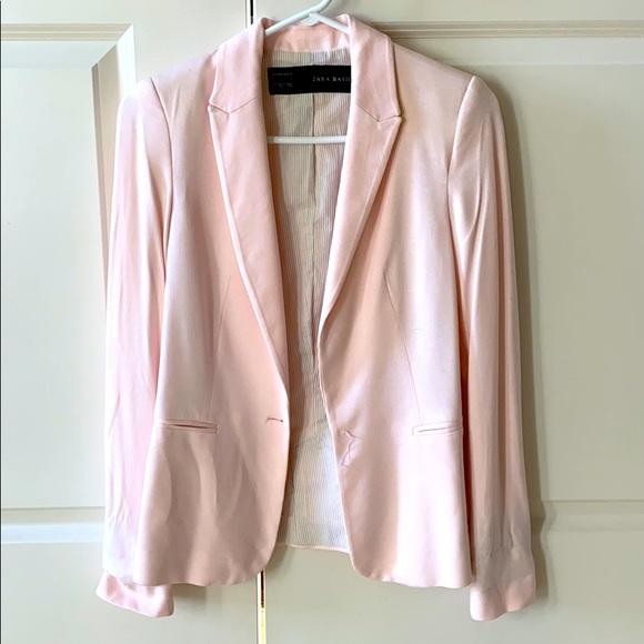 Zara basic blazer light pink